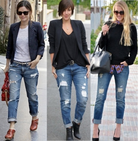 Стильный образ с джинсами бойфренд