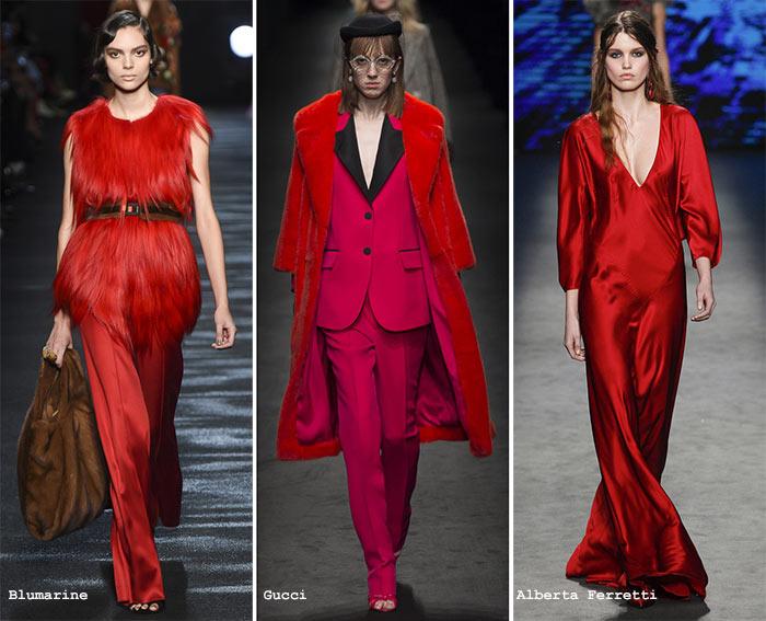 модный красный цвет осень/зима 2016-2017