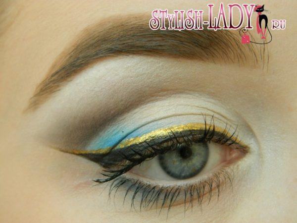 Модный летний макияж для серых глаз, фото