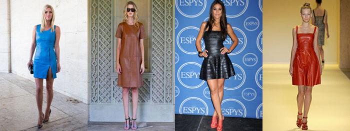 кожаное платье мини, фото