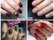 Маникюр с каплями на ногтях для модной осени