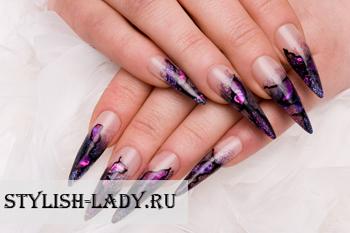 Дизайн нарощенных ногтей  2018 новинки френч 17