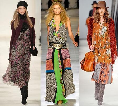 На фото одежда в стиле нео-хиппи.