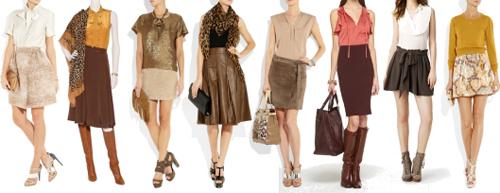 Юбка темно коричневая с чем носить