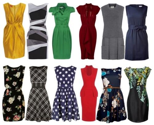 Модели строгих платьев