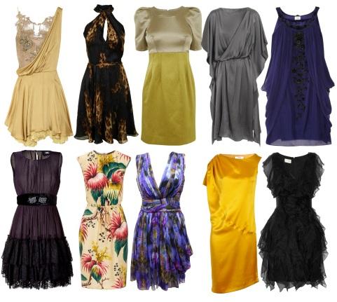 Модели платьев из шелка