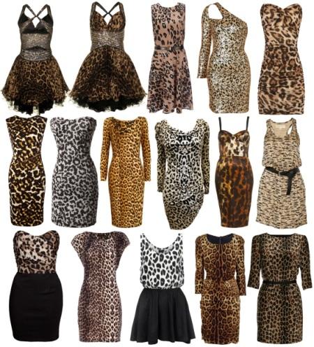 Платья с леопардовым принтом: фото