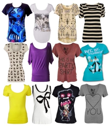 Модные женские футболки: фото