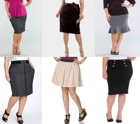 Юбки для полных женщин. Модели и фасоны юбок для полных