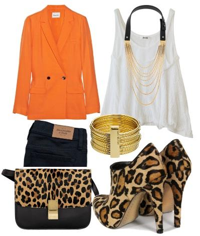 С чем носить леопардовые туфли?