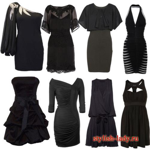 Маленьке чорне плаття моделі і фасони
