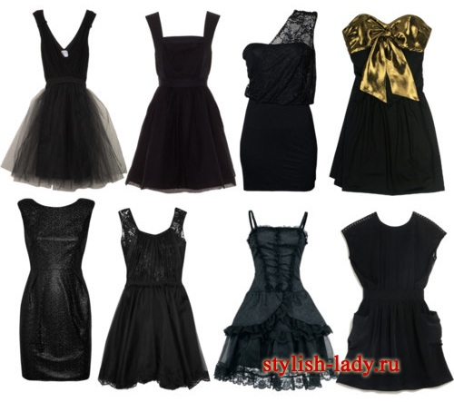 фото чорні плаття