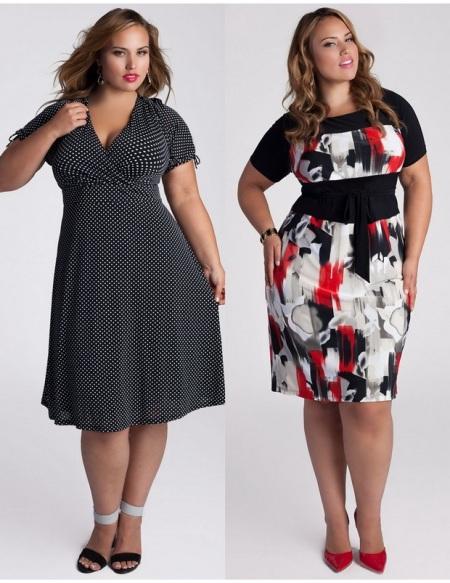 Платья стильные на полных девушек
