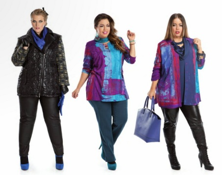 мода для полных женщин, фото