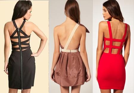 Платья короткие с открытой спиной