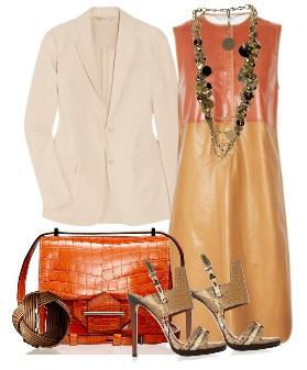 С чем носить кожаное платье?