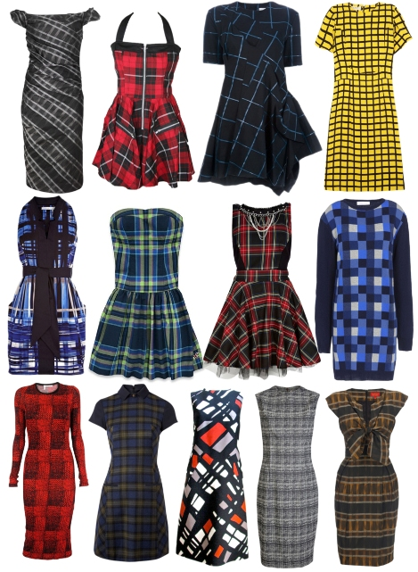Модные платья в клетку 2013 фото
