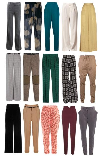 Модные брюки с завышенной талией: фото
