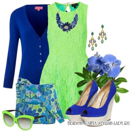 С какими цветами сочетается синий, фото