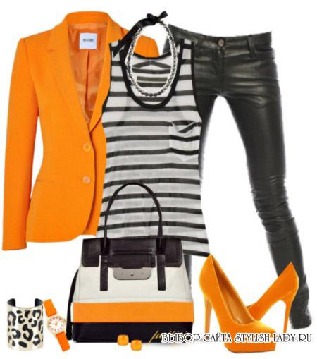 С какими цветами сочетается оранжевый, фото