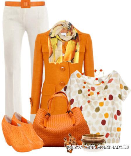 сочетание оранжевого с белым