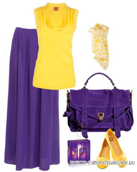 С какими цветами сочетается фиолетовый, фото