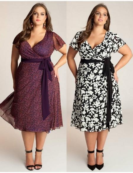 Платья для полных женщин 2014 36 фото