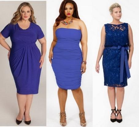 Модные вечерние платья для полных женщин, фото