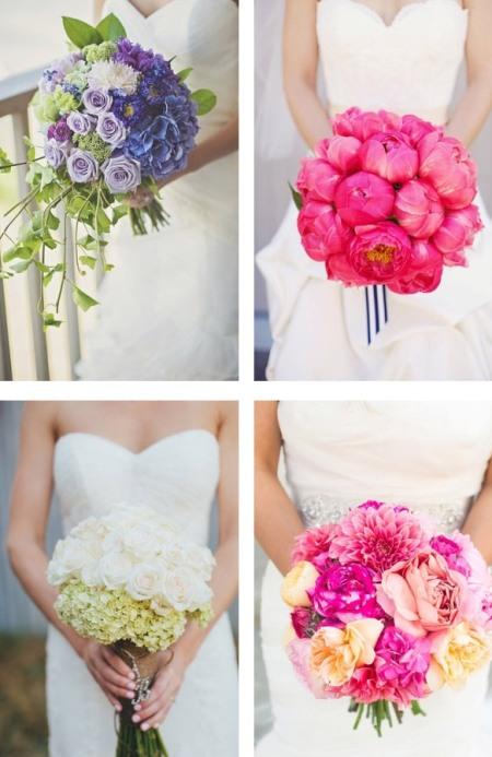 Модный свадебный букет невесты 2014, фото