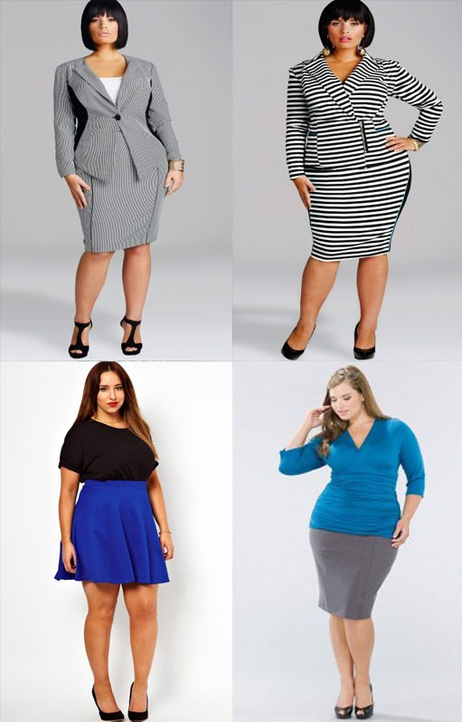 Модные юбки для полных женщин, фото