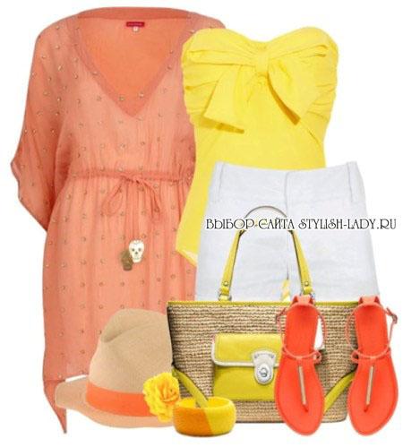 С чем носить оранжевую обувь, фото