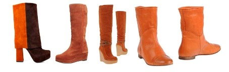 С чем носить оранжевые сапоги?