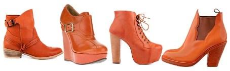 С чем носить оранжевые ботинки?