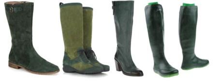 С чем носить зеленые сапоги, фото