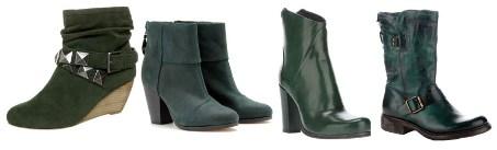С чем носить зеленые ботинки, фото