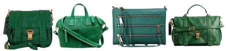 Зеленая сумка: с чем носить, фото