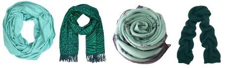 Зеленый шарф: с чем носить, фото