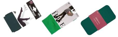 Зеленые колготки: с чем носить, фото