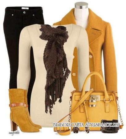 С чем носить желтые сапоги и ботинки, фото