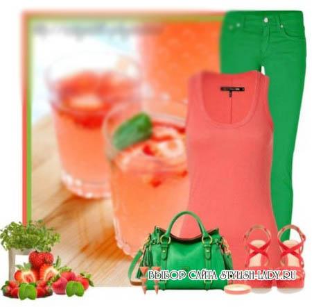С чем носить зеленые штаны и брюки, фото