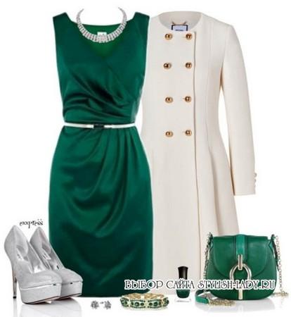 сочетание зеленого с белым