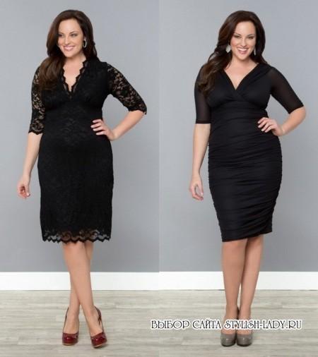 Маленькое черное платье для полных, фото