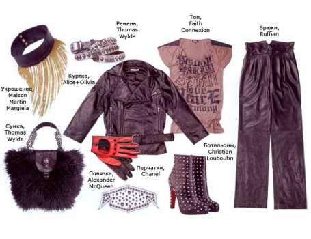 Одежда в стиле панк рок, фото