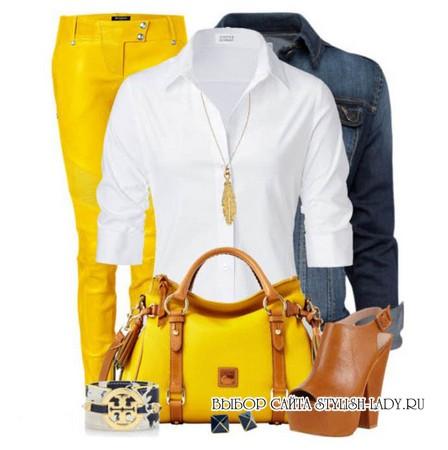 сочетание желтого с белым