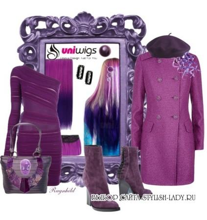 сочетание фиолетового с фиолетовым