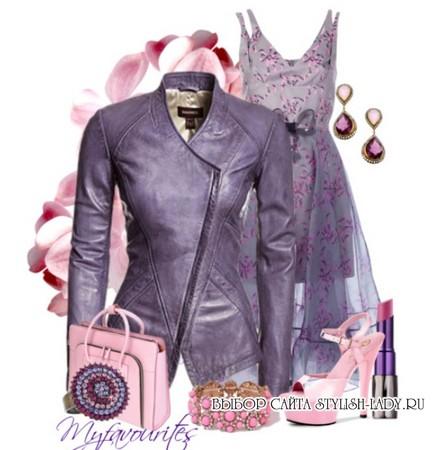 сочетание фиолетового с розовым
