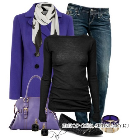 сочетание фиолетового с черным