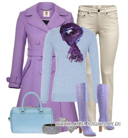 сочетание фиолетового с голубым