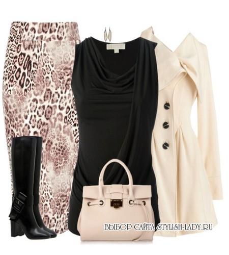 C чем носить леопардовую юбку карандаш