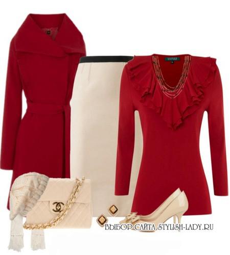 сочетание красного с белым